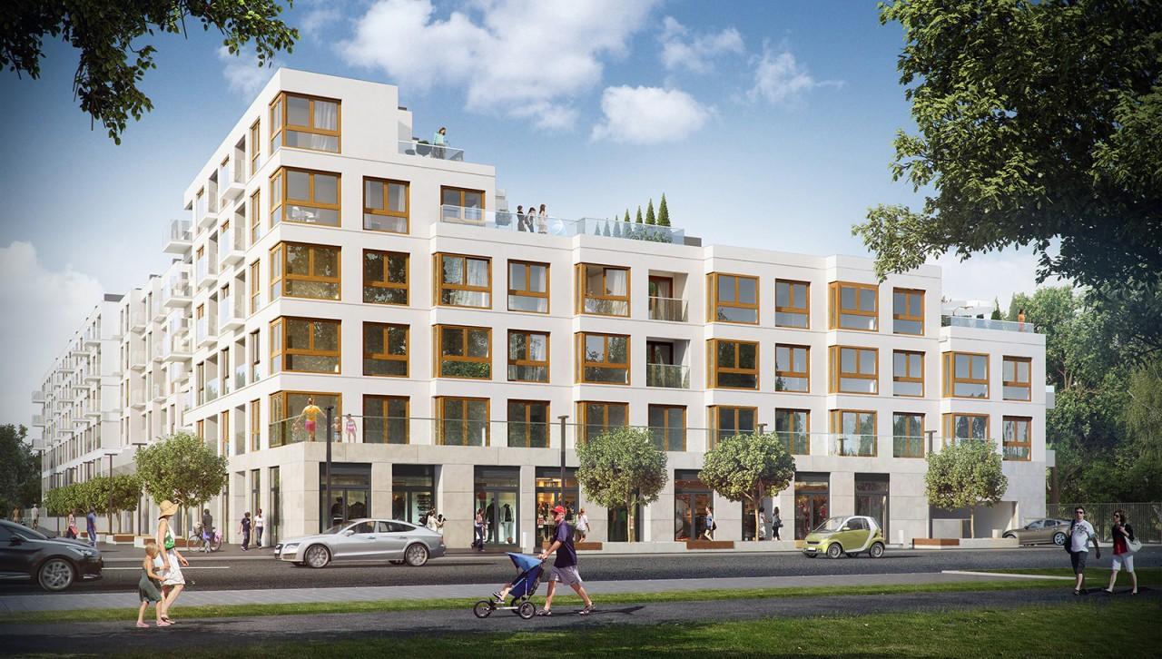 Apartamenty Krasińskiego II - lokale usługowe wparterach